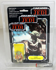 Star Wars Vintage Carded Tri-Logo Palitoy 70 Back-B Yoda (Orange Snake) AFA 70 E