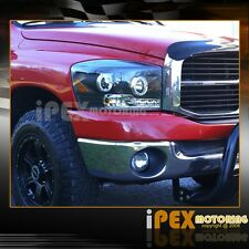 2006 2007 2008 Dodge Ram 1500 2500 3500 Halo Projector LED Black Headlights Pair