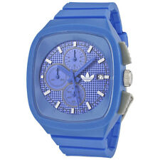 New Adidas Toronto Chronograph Blue Rubber Date Men Watch 45x40mm  ADH2112 $95
