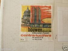 LUCIFERS,MATCHBOX LABELS BOUWEN DOOR DE EEUWEN HEEN VAN 1863-1968