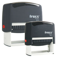 Custom Self Inking Rubber Stamp Traxx 9012 4 lines  USA SELLER
