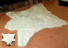 Polar Bear Skin 5x6 Faux Fur Throw Rug Cottage Cabin Rustic Area Rugs