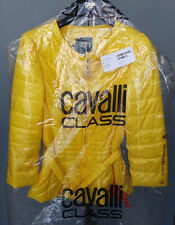 Cavalli Class women's yellow belted padded jacket size 46 IT*