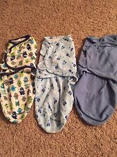 Lot of 3 Baby Swaddle Me Boy lot