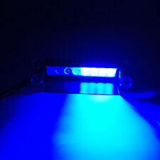 2x Auto Bright Blue 8 LED Dash Warning Police Emergency Flashing Strobe Light qh