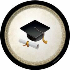 Graduation Cap Lunch Plates 8 count-NEW-7 inch