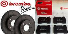 Brembo MaX  2x Bremsscheiben 298mm +Beläge -HInten BMW 5(E39), Touring (E39)