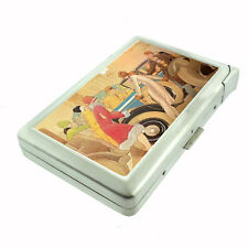 1920's Flappers with Vintage Car Art Deco D 22 Cigarette Case Built in Lighter