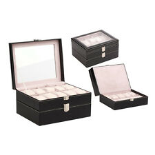 Organizer PU Leather 20 Grids Watch Display Case Box Jewelry Storage