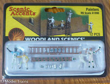 Woodland Scenics #1890 Painters w/Ladders / Paint Cans (HO Scale)