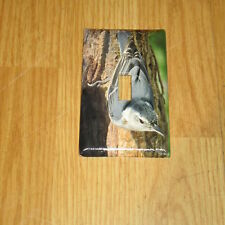 WHITE BREASTED NUTHATCH  WILD BIRD LIGHT SWITCH COVER PLATE