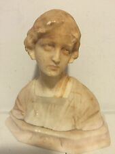 AN ITALIAN ALABASTER BUST ENTITLED 'MIGNON'  BY PROFESSORE G.BESSI, CIRCA 1900