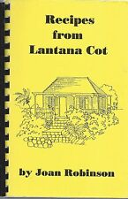 *NEVIS *EASTERN CARIBBEAN *RECIPES FROM LANTANA COT COOK BOOK *JOAN ROBINSON