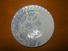 Corelle BOTANIQUE Set of 4 Salad Plates 7 1/4 Swirl Blue Floral