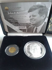 2013 Ireland US President John F. Kennedy Silver and Gold Proof Coin Double set