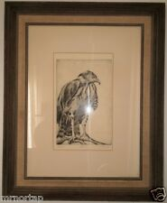 FALCON Limited Edition Sylvia Immel Lithograph Signed Framed LA CA Artist