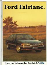 FORD FAIRLANE AUSTRALIAN SALES BROCHURE 1990  1991