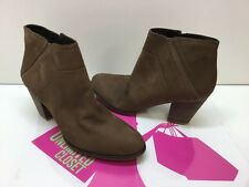Franco Sarto Domino Brown Leather Women Ankle Boot Size 12M