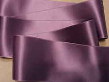 "2-3/4"" SWISS DOUBLE FACE SATIN RIBBON - AMETHYST / LAVENDER"