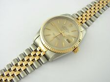 Rolex Datejust 36 mm Ref 16233 Stahl/Gold two-tone Tapestry dial 1991 Zertifikat