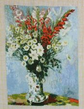"Petit Point Gobelin ""Bouquet of Gadiolas"" (Reproduktion nach Monet)"