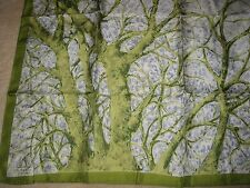 VINTAGE LIBERTY OF LONDON SILK SCARF WINTER TREES FALLING SNOW BACKGROUND VGC