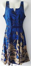 New Desigual Ladies Dress 'JASMINE' Blue & Multi,Size L