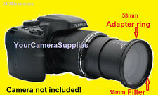 ADAPTER + UV FILTER for FUJI FINEPIX SL1000 S8200 58mm (RING FOR FILTERS ONLY)