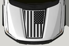 Vinyl Decal Wrap Kit fits 2015-2017 Ford F-150 Hood Graphic PATRIOT Matte Black