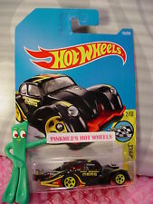 VOLKSWAGEN KAFER RACER #156✰black/red VW;yellow;momo✰✰2017 i Hot Wheels Case G