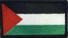 Palestine Flag Embroidered Iron-on Patch Military Morale Emblem Black  Border
