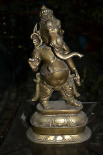 Ganesh Stand  Hand made in Brass ,Nepal Special Hindu God For Fortune Ganesha