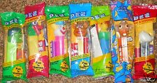 Pez Candy Dispensers Lot of 7 Clown Hulk Panda Fozzie Bear Chick Parrot Retired