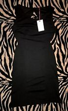 NEW MISO BLACK SLEEVELESS OPEN BACK PENCIL STRETCHY DRESS SIZE 10 *NWT