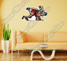 "Wrestling Fighting Sparring Martial Art Wall Sticker Room Interior Decor 25""X18"""