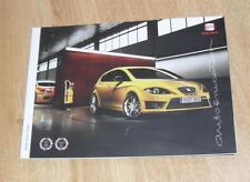 Seat Leon Brochure 2009 - Cupra FR Sport SE S - 2.0 & 1.4  TSI 2.0 & 1.9 TDI