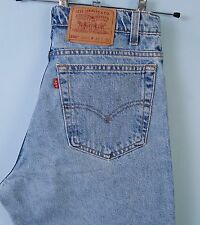 Vintage Levis 550 High Waisted Jeans Relaxed Fit Tapered Leg Blue USA W32 L30