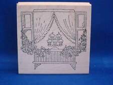 Lockhart Stamp Co. Cupcake Desserts Sweets Window Rubber Stamp 2009 Flowers
