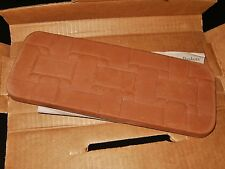 "LONGABERGER Pottery 11"" x 4.25"" Clay Bread Basket Warmer Brick #30074 New In Box"