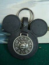 VINTAGE MICKEY MOUSE LEATHER KEY RING