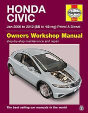 Haynes Honda Civic 1.4i-vtec 1.8i-vtec 2.2 Td Jan 2006 - 2012 Manual 5913 Nuevo