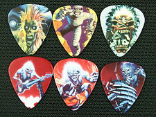 IRON MAIDEN .49 MM GUITAR PICKS 6 LOT SET NEW DOUBLE SIDED IMAGE FREE SHIPPING