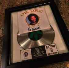 Dr Dre The Chronic Platinum Record Disc Album Music Award RIAA  Beats By Dre