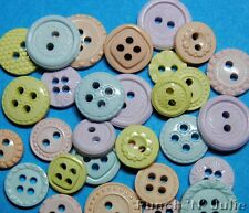 BABY'S BREATH - Girl Boy Small Round Sewing Dress It Up Themed Craft Buttons
