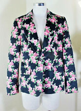 Red VALENTINO Floral Cotton Suit Jacket Green Pink Black 44 5 6 7