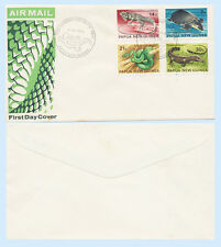 Papua New Guinea 1972 First Day Cover FDC #344-47 Reptiles Snake Turtle