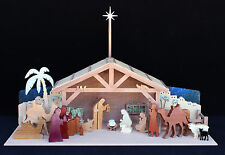 Woodworking plans for building an all wood Nativity set for Christmas