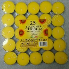 Citronella Tea Lights - Pack of 25 from Prices Candles Wax Tealights