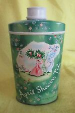 Collectible VINTAGE APRIL SHOWERS TALC Tin, CHERAMY NY