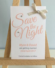 5 Personalised Magnetic Wedding Save the Date Night Cards with envelope